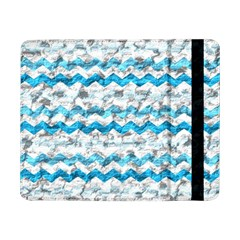 Baby Blue Chevron Grunge Samsung Galaxy Tab Pro 8 4  Flip Case by designworld65