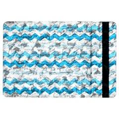 Baby Blue Chevron Grunge Ipad Air 2 Flip by designworld65