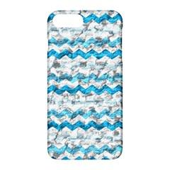 Baby Blue Chevron Grunge Apple Iphone 7 Plus Hardshell Case by designworld65