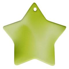 Green Soft Springtime Gradient Ornament (star) by designworld65