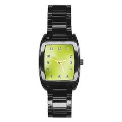 Green Soft Springtime Gradient Stainless Steel Barrel Watch by designworld65