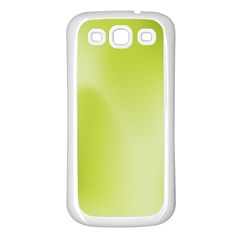 Green Soft Springtime Gradient Samsung Galaxy S3 Back Case (white) by designworld65