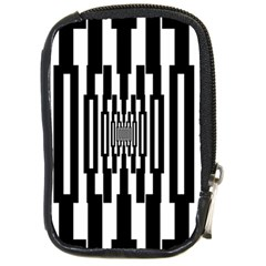 Black Stripes Endless Window Compact Camera Cases by designworld65