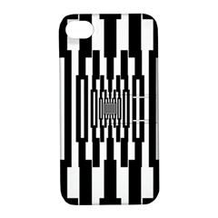 Black Stripes Endless Window Apple Iphone 4/4s Hardshell Case With Stand by designworld65