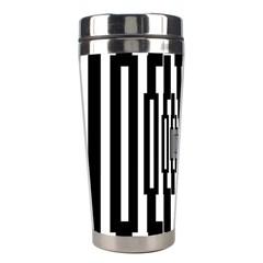 Black Stripes Endless Window Stainless Steel Travel Tumblers by designworld65