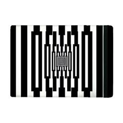 Black Stripes Endless Window Ipad Mini 2 Flip Cases by designworld65