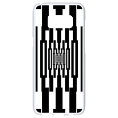 Black Stripes Endless Window Samsung Galaxy S8 White Seamless Case by designworld65