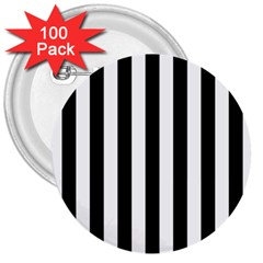 Black And White Stripes 3  Buttons (100 Pack)  by designworld65