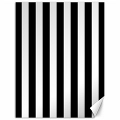 Black And White Stripes Canvas 12  X 16   by designworld65