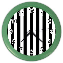 Black And White Stripes Color Wall Clocks by designworld65