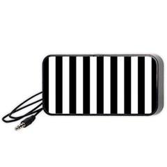 Black And White Stripes Portable Speaker (black) by designworld65