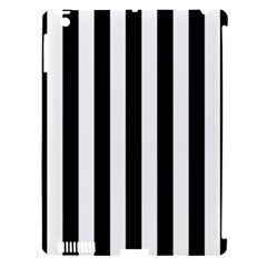 Black And White Stripes Apple Ipad 3/4 Hardshell Case (compatible With Smart Cover) by designworld65