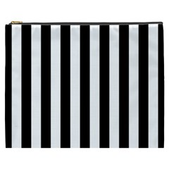 Black And White Stripes Cosmetic Bag (xxxl)  by designworld65