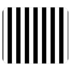 Black And White Stripes Double Sided Flano Blanket (small)  by designworld65