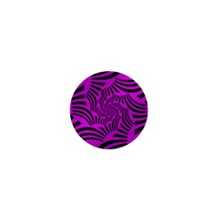 Black Spral Stripes Pink 1  Mini Magnets by designworld65