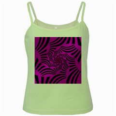 Black Spral Stripes Pink Green Spaghetti Tank by designworld65
