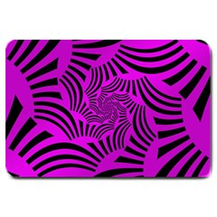 Black Spral Stripes Pink Large Doormat  by designworld65