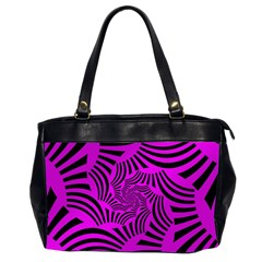 Black Spral Stripes Pink Office Handbags (2 Sides)  by designworld65