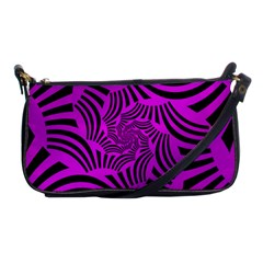 Black Spral Stripes Pink Shoulder Clutch Bags by designworld65