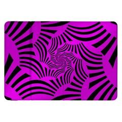 Black Spral Stripes Pink Samsung Galaxy Tab 8 9  P7300 Flip Case by designworld65