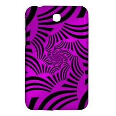 Black Spral Stripes Pink Samsung Galaxy Tab 3 (7 ) P3200 Hardshell Case  by designworld65
