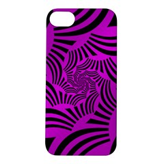 Black Spral Stripes Pink Apple Iphone 5s/ Se Hardshell Case by designworld65