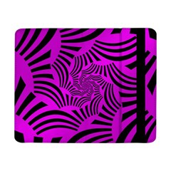 Black Spral Stripes Pink Samsung Galaxy Tab Pro 8 4  Flip Case by designworld65