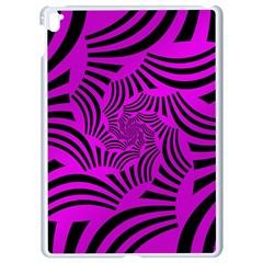 Black Spral Stripes Pink Apple Ipad Pro 9 7   White Seamless Case by designworld65