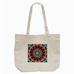Blue Feather Mandala Tote Bag (cream) by designworld65