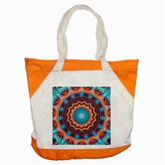 Blue Feather Mandala Accent Tote Bag by designworld65