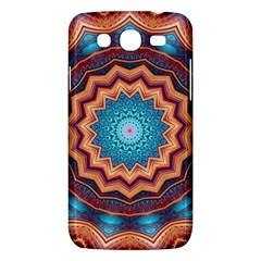Blue Feather Mandala Samsung Galaxy Mega 5 8 I9152 Hardshell Case  by designworld65