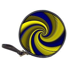 Blue Gold Dragon Spiral Classic 20 Cd Wallets by designworld65