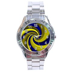 Blue Gold Dragon Spiral Stainless Steel Analogue Watch by designworld65