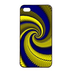 Blue Gold Dragon Spiral Apple Iphone 4/4s Seamless Case (black) by designworld65