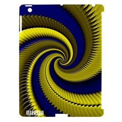 Blue Gold Dragon Spiral Apple Ipad 3/4 Hardshell Case (compatible With Smart Cover) by designworld65