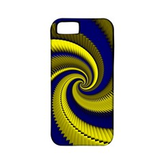 Blue Gold Dragon Spiral Apple Iphone 5 Classic Hardshell Case (pc+silicone) by designworld65
