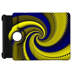 Blue Gold Dragon Spiral Kindle Fire Hd 7  by designworld65