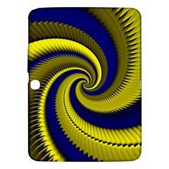 Blue Gold Dragon Spiral Samsung Galaxy Tab 3 (10 1 ) P5200 Hardshell Case  by designworld65