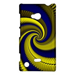 Blue Gold Dragon Spiral Nokia Lumia 720 by designworld65