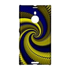 Blue Gold Dragon Spiral Nokia Lumia 1520 by designworld65
