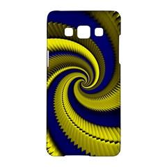 Blue Gold Dragon Spiral Samsung Galaxy A5 Hardshell Case  by designworld65