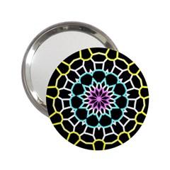 Colored Window Mandala 2 25  Handbag Mirrors by designworld65