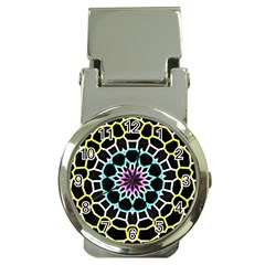 Colored Window Mandala Money Clip Watches by designworld65