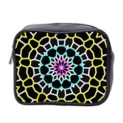 Colored Window Mandala Mini Toiletries Bag 2 Side by designworld65