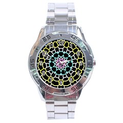 Colored Window Mandala Stainless Steel Analogue Watch by designworld65