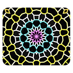 Colored Window Mandala Double Sided Flano Blanket (small)  by designworld65