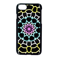 Colored Window Mandala Apple Iphone 7 Seamless Case (black) by designworld65
