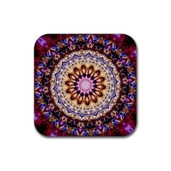 Dreamy Mandala Rubber Coaster (square)  by designworld65