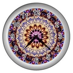 Dreamy Mandala Wall Clocks (silver)  by designworld65