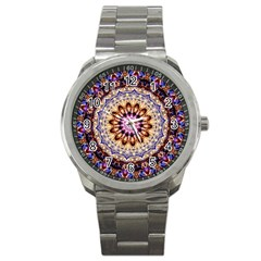 Dreamy Mandala Sport Metal Watch by designworld65